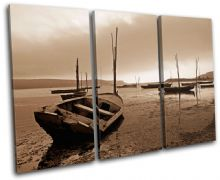 Lake Boats Sunset Seascape - 13-0976(00B)-TR32-LO